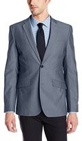 Perry Ellis Men's Slim Fit Chambray Stretch Suit Jacket