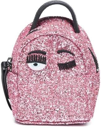 Chiara Ferragni Glittered Mini Backpack