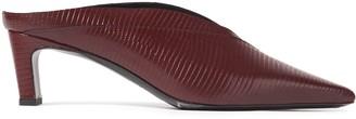 McQ Spyke Lizard-effect Leather Mules