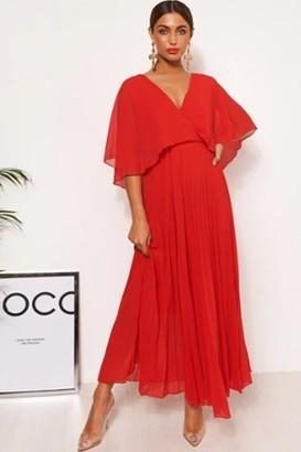 The Fashion Bible Tama Red Open Back Maxi Dress