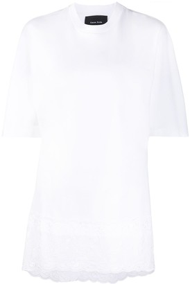 Simone Rocha lace-panel T-shirt