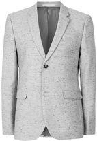 Topman Grey and Black Neppy Skinny Fit Blazer