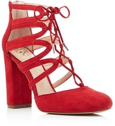 Vince Camuto Shavona Lace Up High Heel Pumps