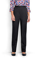 Lands' End Women's Tall 7 Day Elastic Back Pants-Black