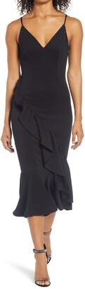 Chi Chi London Ruffle Body-Con Dress