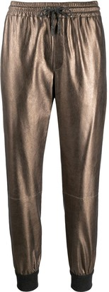 Brunello Cucinelli Metallic Drawstring Track Pants
