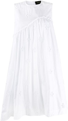 Simone Rocha Floral Embroidery Asymmetric Dress