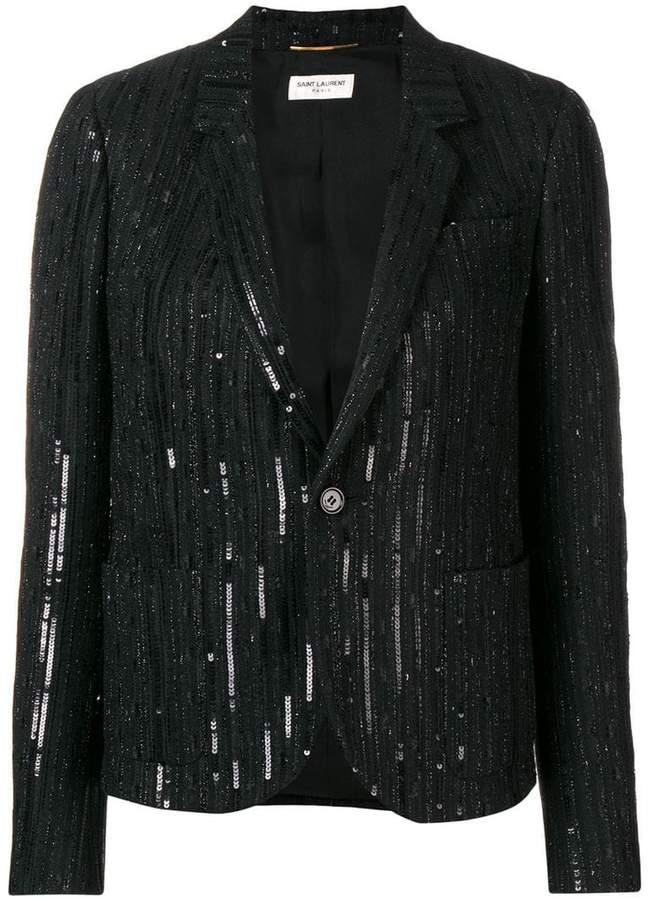 Saint Laurent sequin embellished blazer