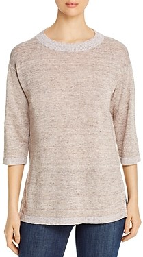 Eileen Fisher Round Neck Tunic Sweater