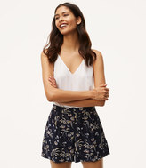 LOFT Daisy Pleated Shorts