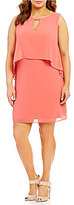 Vince Camuto Plus Souffle Chiffon Float Dress