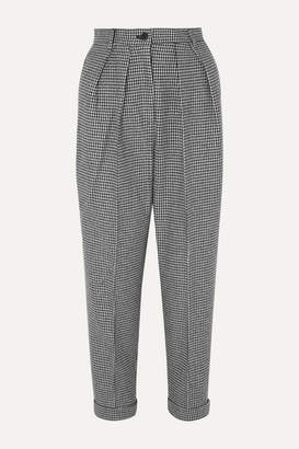 J.W.Anderson Pleated Houndstooth Wool-blend Tapered Pants - Black