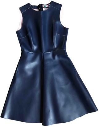MSGM Blue Leather Dresses