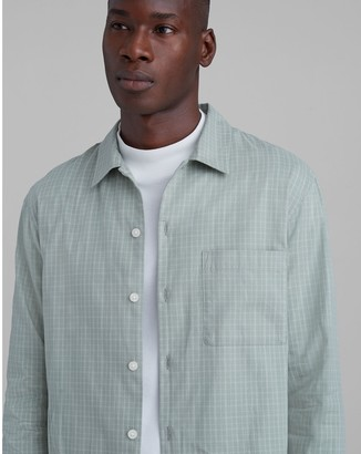 Club Monaco Standard Fit Windowpane Shirt