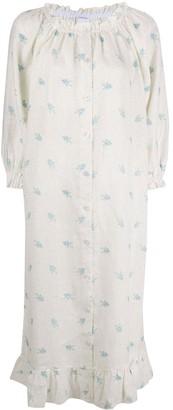 Sleeper Floral-Print Midi Dress