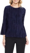 Vince Camuto Petite Women's Pleated Knit Top