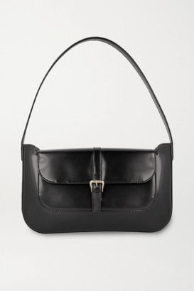 BY FAR Miranda Patent-leather Shoulder Bag - Black