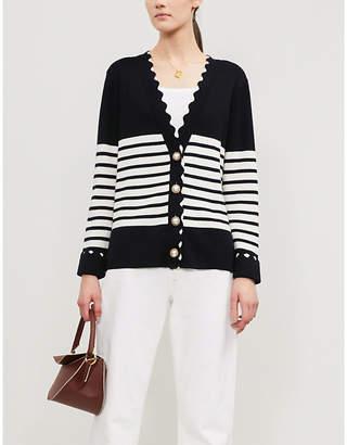 Claudie Pierlot Minervah striped wool cardigan