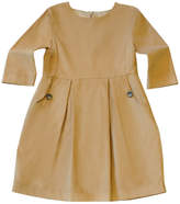 Marie Chantal Girls Cord Dress - Caramel