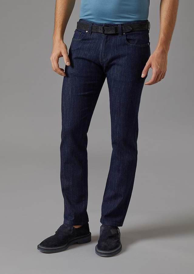 Giorgio Armani Stretch Cotton Five-Pocket Jeans
