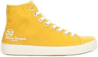 Maison Margiela Sneakers In Yellow Velvet