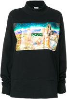 Aalto Airbrush print sweatshirt - women - Cotton/Viscose - 36