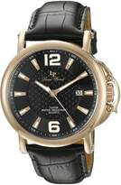 Lucien Piccard Men's 'Triomf' Quartz Stainless Steel and Leather Casual Watch (Model: LP-40018-RG-01)