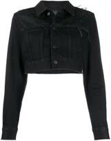 Diesel Embellished Cropped Denim Jacket