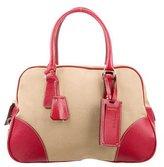 Prada Canapa & Leather Bowling Bag