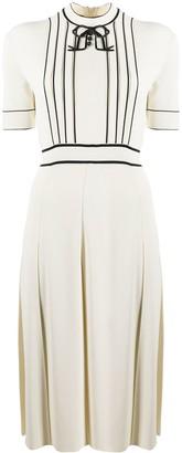 Gucci Contrast-Trim Midi Dress