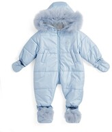KATIES PLAYPEN/® BABY BEST BUYS Super Soft Hooded Light Cream Star Embossed Snowsuit with Detachable Mittens