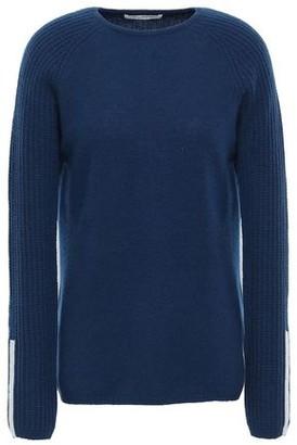 Duffy Waffle Knit-paneled Cashmere Sweater