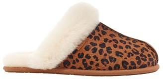 UGG Scuffette II Leopard-Print Calf Hair Sheepskin Slippers