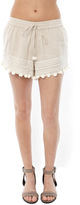 Rory Beca Niroupa Embroidered Shorts with Pom Pom