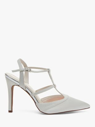 Rainbow Club Rita Satin Strappy Court Shoes, Ivory