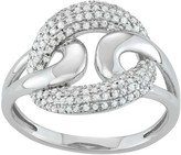 Sterling Silver 1/3 Carat T.W. Diamond Interlocking Ring