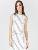 Harmony White Striped Tia Top