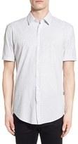 BOSS Men's Slim Fit Short Sleeve Stripe Sport Shirt