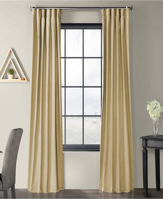 "Exclusive Fabrics & Furnishings Solid Country Cotton 50"" x 120"" Curtain Panel"