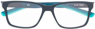Nike rectangle two-tone glasses