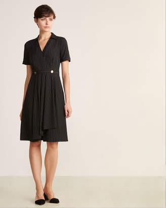 DKNY Stripe Short Sleeve Dress