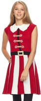 It's Our Time Juniors' Peppermint Stripe Christmas Dress