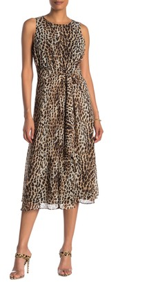 Rachel Roy Twist Front Leopard Midi Dress