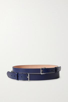 Alexander McQueen Leather Waist Belt - Blue