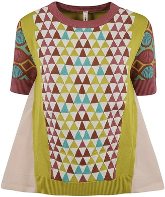 Antonio Marras Shell Sleeve Knit Short-sleeve Sweater
