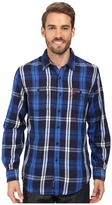 U.S. Polo Assn. Long Sleeve Classic Fit Plaid Peached Twill Straight Point Collar Sport Shirt