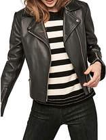 Gerard Darel Orlando Leather Jacket, Black