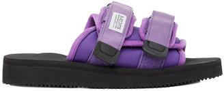 Suicoke SSENSE Exclusive Purple MOTO-Cab Sandals