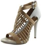 Calvin Klein Naida Open-toe Leather Heels.