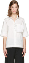 Marni White Ruffle Pocket Shirt